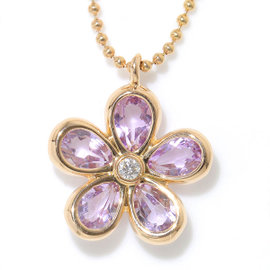 Tiffany & Co. 18K Pink Gold Garden Flower Amethyst Diamond Necklace