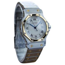 Cartier Santos 18K Gold & Stainless Steel Swiss Made Unisex Watch Year: 2000