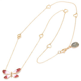 Gucci 18K Pink Gold Enamel Necklace