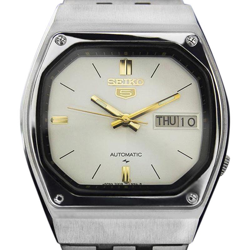 "Image of ""Seiko Day Date Stainless Steel Automatic Vintage Mens Watch Year: 1980"""
