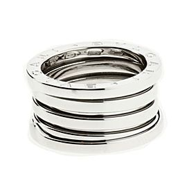 Bulgari B.Zero1 18K White Gold Band Ring Size 7