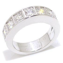 Cartier 18K White Gold and Diamond Ring Size 5.25