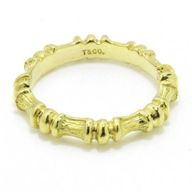 Tiffany & Co. Bamboo 18K Yellow Gold 750 Ring Size 5.0