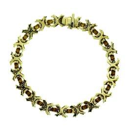 Tiffany & Co 18K Yellow Gold Signature X Bracelet
