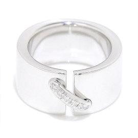 Chaumet 18K White Gold & Diamond Liens Ring
