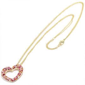 Ponte Vecchio 750 Pink Gold Diamond& Sapphire Diamond Emozione Necklace