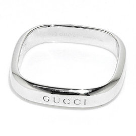 Gucci 18K White Gold Ring Size 6~6.25