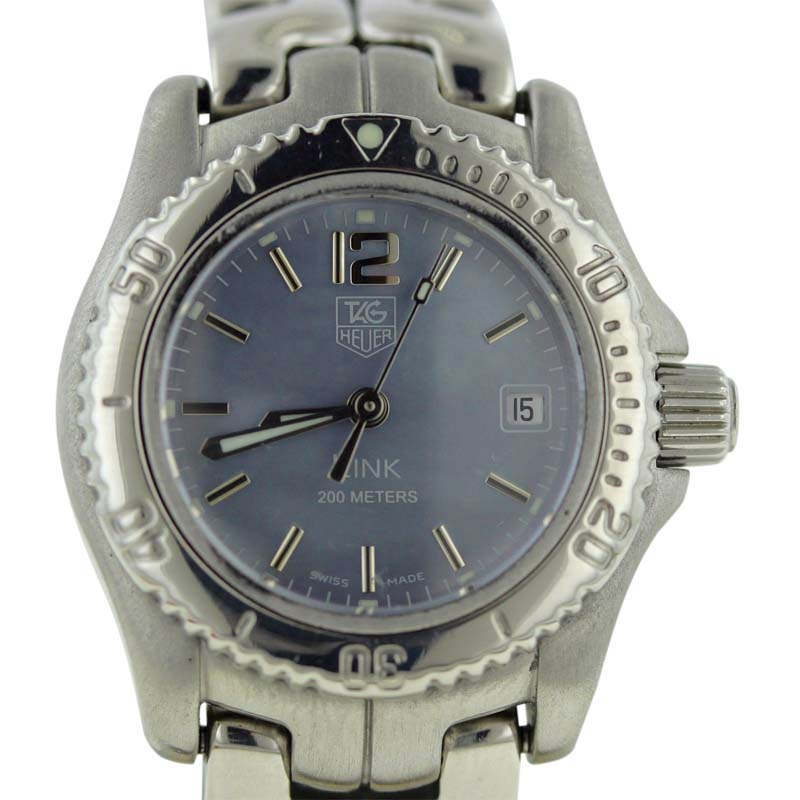"""Image of """"Tag Heuer Link Wt141G Blue Mother Of Pearl Dial Stainless Steel Quartz"""""""