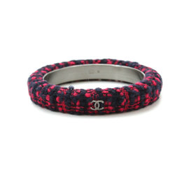 Chanel Tweed Red Navy Bangle