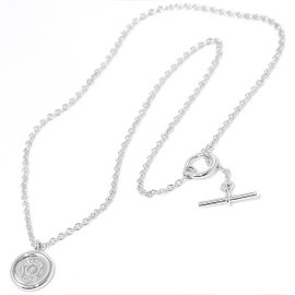 Hermes Sellier 750 White Gold Necklace