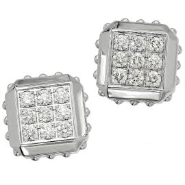 Louis Vuitton 18K White Gold Emprise Diamond Earrings