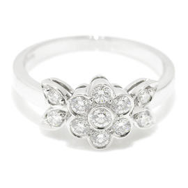 Tiffany & Co. Pt950 Platinum Blossom Diamond Flower Ring Size 5.0