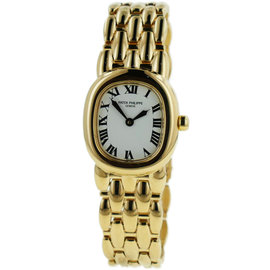 Patek Philippe Ellipse 4830/1 18K Yellow Gold Quartz 23mm Womens Watch