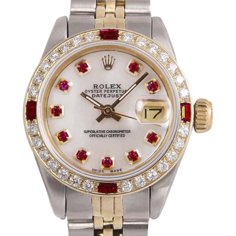 """Image of """"Rolex Datejust 2 Tone 18K Yellow Gold/Stainless Steel White Mother Of"""""""