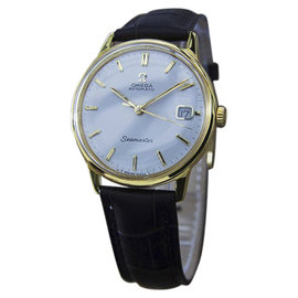 Omega Seamaster Gold Plated and Stainless Steel & Leather Swiss Made Automatic 35mm Mens Watch 1960s