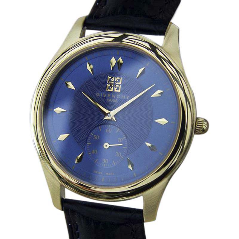 "Image of ""Givenchy Elitis Gold Plated Stainless Steel & Leather Swiss Made"""