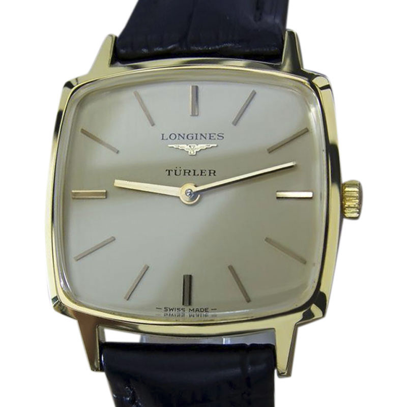 """Image of """"Longines Turler Gold Plated and Stainless Steel & Leather Manual Swiss"""""""