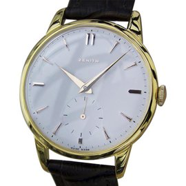 Zenith Gold Plated and Stainless Steel Vintage 36mm Mens Watch