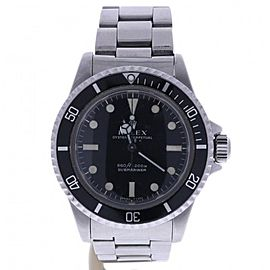 Rolex Submariner 5513 Stainless-Steel Automatic Black Dial Vintage 40mm Mens Watch 1955