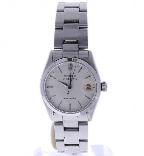 """Image of """"Rolex Oyster Date 6466 Stainless-Steel Manual 30mm Womens Watch"""""""
