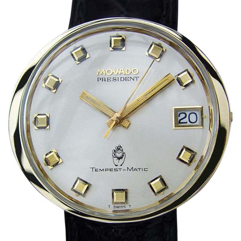 "Image of ""Movado President Tempest Matic 14K Gold & Stainless Steel Automatic"""