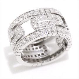 Bulgari 18K White Gold Diamond Parentesi Ring
