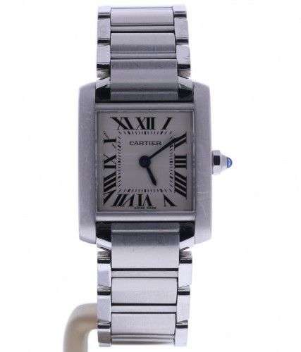 """Image of """"Cartier Tank Francaise 2384 Stainless Steel Off-White Dial Quartz 20mm"""""""