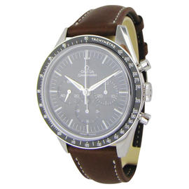 Omega Speedmaster Stainless Steel / Leather 40mm Mens Watch