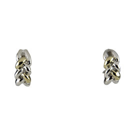Tiffany & Co. Vintage 18K Yellow Gold and Sterling Silver Braid Earrings