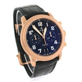 Blancpain Leman Flyback Chronograph Grande Date 2885F-3630-53B 18K Rose Gold Black Dial 40mm Watch