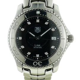 Tag Heuer WJ1113-0 Stainless Steel Diamond Dial Link 39mm Mens Watch