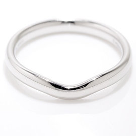 Tiffany & Co. Platinum Wide Curved Band Ring Size 9.5