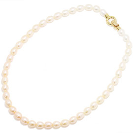 Mikimoto 18K Yellow Gold Freshwater Cultured Pearl Necklace