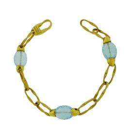 Marco Bicego 18K Yellow Gold Blue Topaz Bracelet