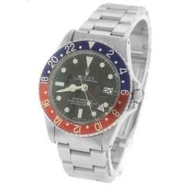 Rolex GMT-Master 'Pepsi' 1675 Pepsi Blue Red Stainless 40mm Watch 1966