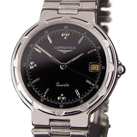 Longines Conquest Stainless Steel Swiss Made Quartz 32mm Mens Dress Watch 1990s