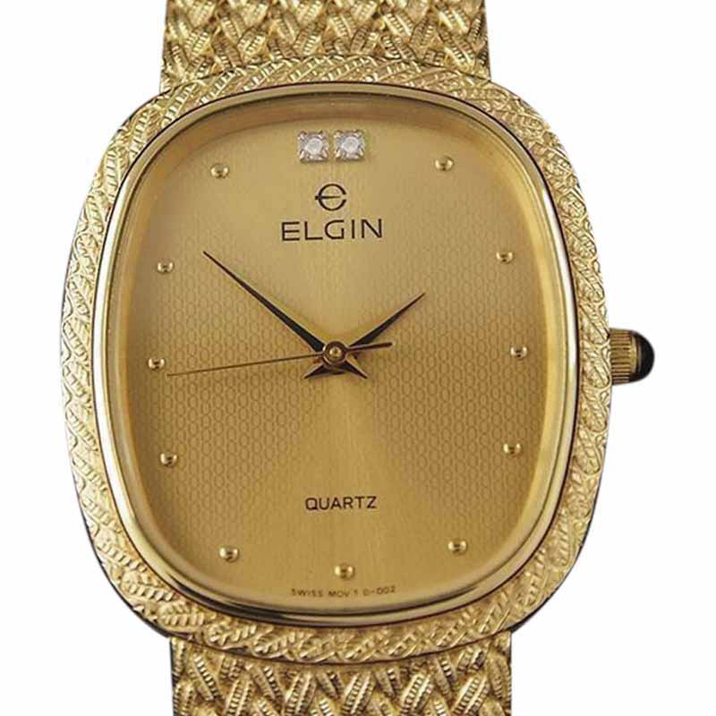 "Image of ""Elgin YY6 Gold Plated Quartz Vintage 28mm Mens Watch"""