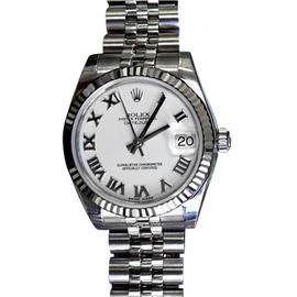 Rolex Datejust Stainless Steel & White Roman Dial 31mm Unisex Watch