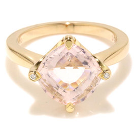 Cartier 18K Pink Gold and Quartz Ring Size 4