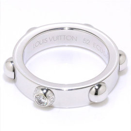 Louis Vuitton 18K White Gold & Diamond Petite Berg Crew Ring