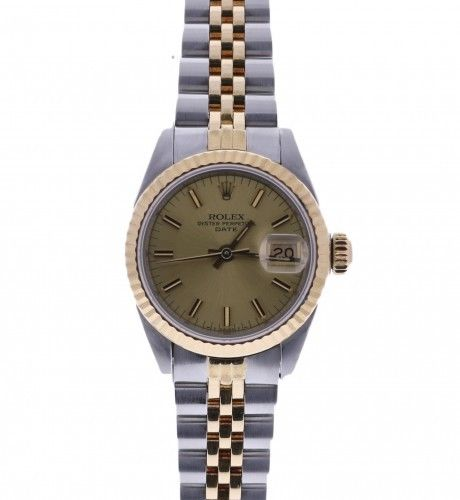 """Image of """"Rolex Date 69173 Two Tone Stainless Steel And 18K Yellow Gold"""""""