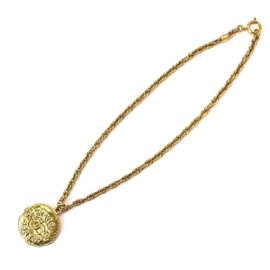 Chanel Gold Coin CC Necklace