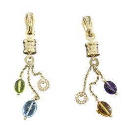 Bulgari B-Zero1 18K Yellow Gold B-Zero1 Multi-Stone Diamond Earrings