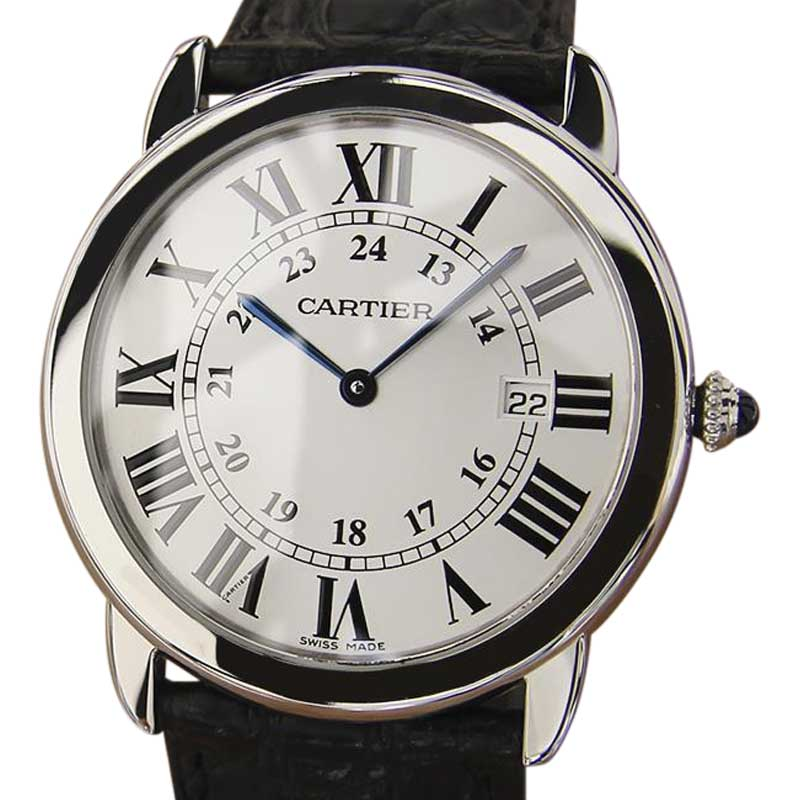 """Image of """"Cartier Ronde Stainless Steel 36mm Mens Watch"""""""