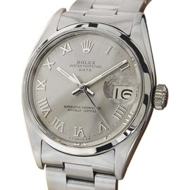 Rolex Oysterdate Precision 6534 Stainless Steel Vintage 34mm Mens Watch