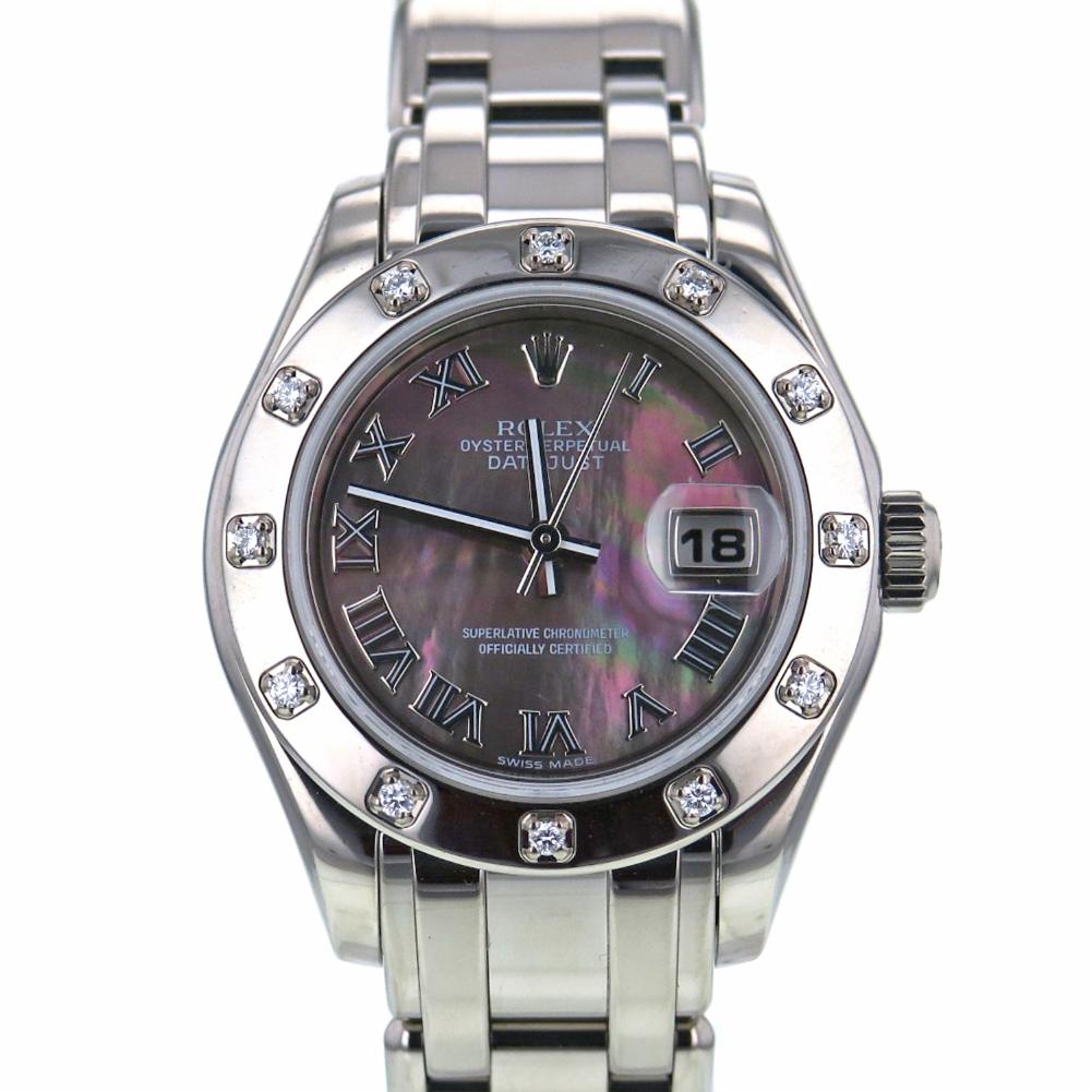 "Image of ""Rolex DateJust Pearlmaster 80319 18K White Gold Automatic 29mm Women's"""