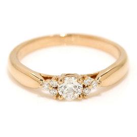 Tiffany & Co. 18K Rose Gold 0.19ct Diamond Harmony Ring Size 4