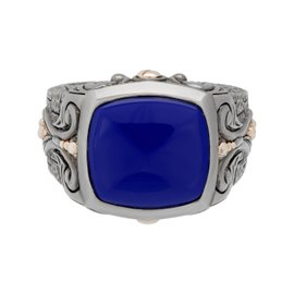 Stephen Webster 925 Sterling Silver London Calling Brickwork Lapis Ring Size 10