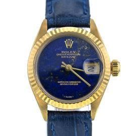 Rolex DateJust 6917 18K Yellow Gold & Leather Vintage 26mm Women's Watch 1975