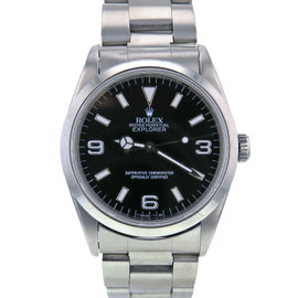 Rolex Explorer 14270 Stainless Steel Black Dial Automatic 36mm Mens Watch 1995